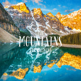 "SALE 8x8"" Metallic Paper Print <br>The Mountains Are Calling Moraine Lake<br>"