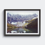 The Mountains Are Calling <br> Rawson Lake Alberta<br>Limited Edition Archival<br> Fine Art Chromogenic Print