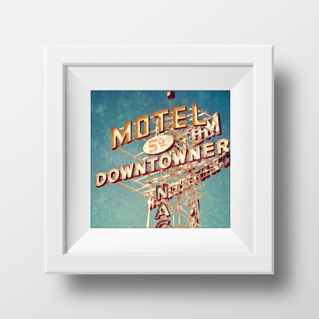 "Discontinued 8x8"" Print <br>Motel Downtowner<br> Matte Finish"