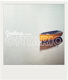 CLEARANCE <br> Metallic Polaroid Magnet <br>Greetings from Ontario #1
