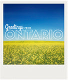 CLEARANCE<br> Metallic Polaroid Magnet <br>Greetings from Ontario #2