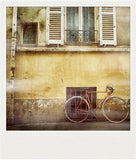 CLEARANCE<br>Metallic Polaroid Magnet <br> Bicycle in Paris