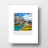 SALE<br> Metallic Polaroid Magnet <br>Larches in Banff National Park <br> Skoki Lakes