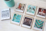 CLEARANCE <br> Metallic Polaroid Magnet <br>Birds in Flight