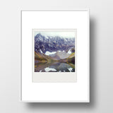SALE<br> Metallic Polaroid Magnet <br>Rawson Lake in Autumn Canadian Rockies