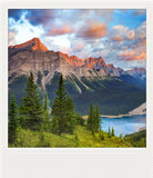 Metallic Polaroid Magnet <br> Alberta Mountain Landscapes