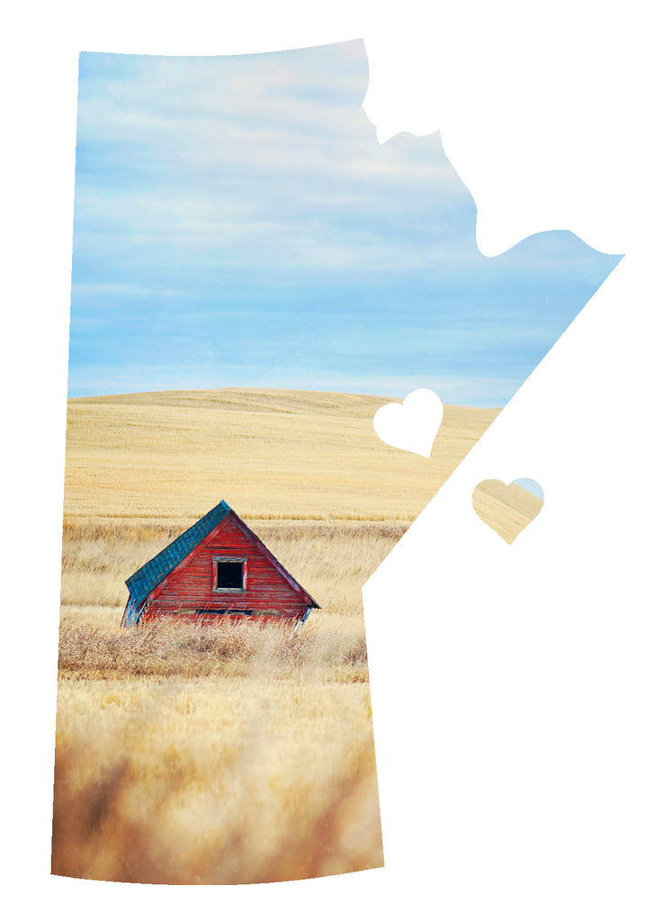 CLEARANCE<br>Manitoba Love Magnet <br>Red Grainery