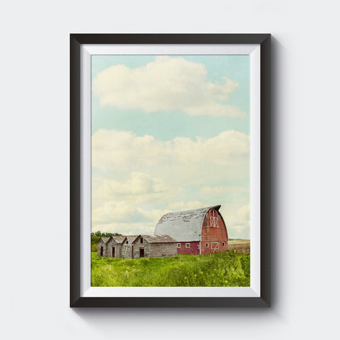 Canadian Red Barn in Summer <br>Limited Edition Archival Fine Art Chromogenic Print