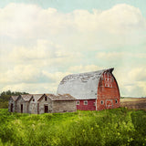 CLEARANCE Print <br>Red Prairie Barn + Sky <br> Various Finishes + Sizes