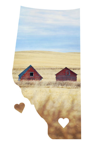 Alberta Love Magnet <br>Red Barns