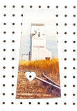 Saskatchewan Province<br> Flaxcombe Elevator <br>Photo on Birch Wood Panel <br>