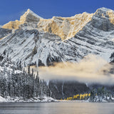 Winter Sunrise over Kananaskis Lakes <br> Archival Fine Art Chromogenic Print