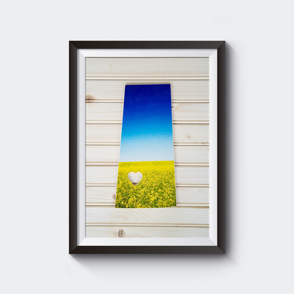 Saskatchewan Province<br> Canola Field <br>Photo on Birch Wood Panel <br>