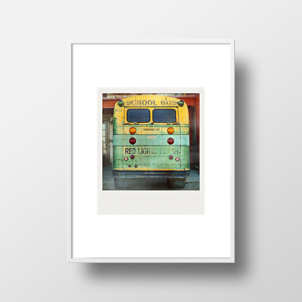 CLEARANCE <br>Metallic Polaroid Magnet <br>Vintage Bus in Arizona