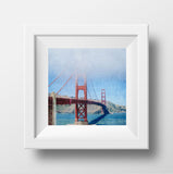 "SAMPLE 8x8"" Print <br>Golden Gate Bridge in Fog<br> Matte Finish"