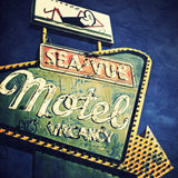 Discontinued Print<br>Vintage Sea-Vue Motel<br> Various Finishes + Sizes