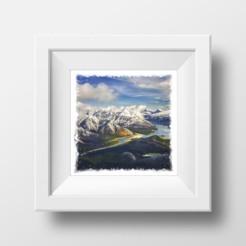"CLEARANCE 5x5"" Fine Art Print <br>Spray Lakes Canadian Rockies in Autumn<br> Metallic Finish"