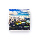 "Canadian Rockies & Spray Lakes <br>Birch Wood Photo Coaster <br> 4x4"" Matte Finish"