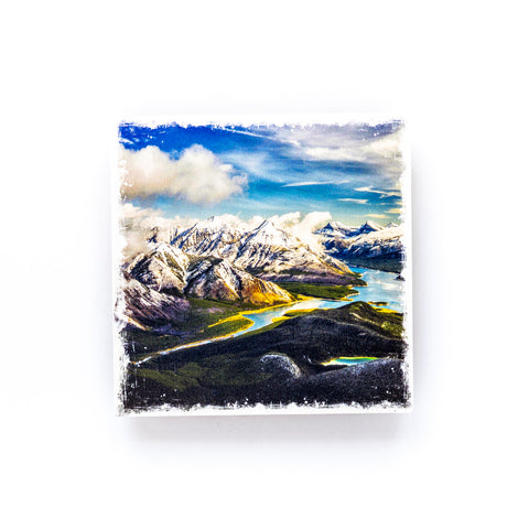 Metallic Polaroid Magnet <br>Canadian Rockies // Spray Lakes