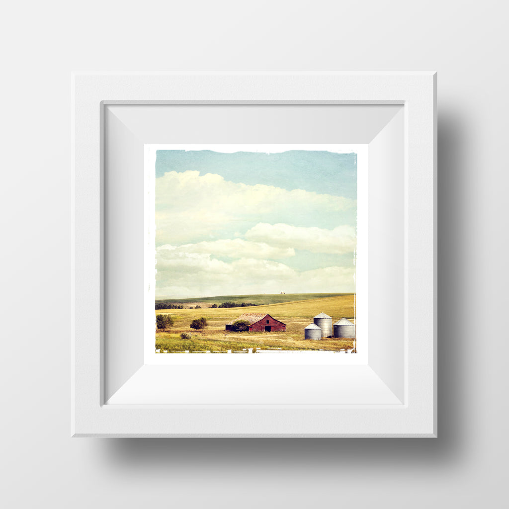 "CLEARANCE 5x5"" Fine Art Print <br>Alberta Prairie Scene <br> Metallic Finish"