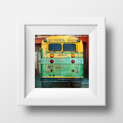 Vintage School Bus in Arizona<br>Archival Fine Art Chromogenic Print