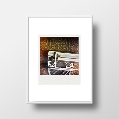 Discontinued Polaroid Magnet <br>Vintage Typewriter <br> Metallic Finish