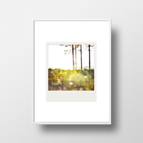 CLEARANCE <br>Metallic Polaroid Magnet <br>Sunrise on Lake Superior