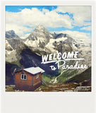 SALE <br>Metallic Polaroid Magnet <br>Welcome to Paradise