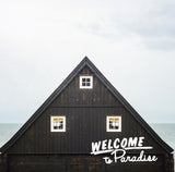 "Discontinued 5x5"" Print <br>Welcome to Paradise Iceland <br> Textured Matte Finish"