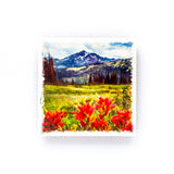"Wildflowers & Paintbrushes in British Columbia<br>Birch Wood Photo Coaster <br> 4x4"" Matte Finish"