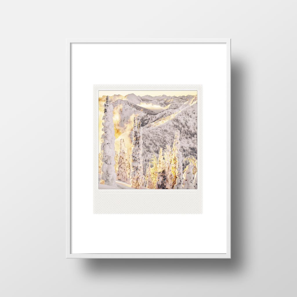 SALE<br>Metallic Polaroid Magnet <br>Winter Sunrise in Canadian Rockies