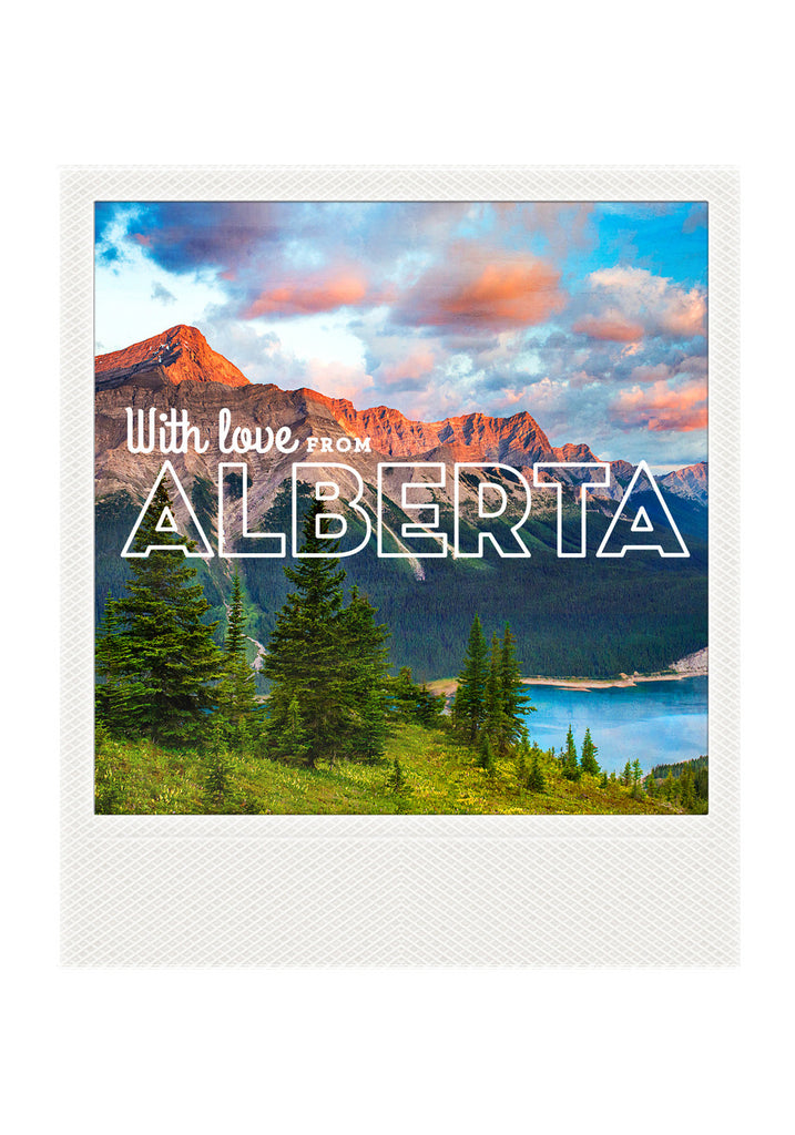 Metallic Polaroid Magnet <br> With Love from Alberta