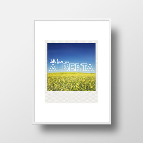 Metallic Polaroid Magnet <br> With Love From Alberta Canola