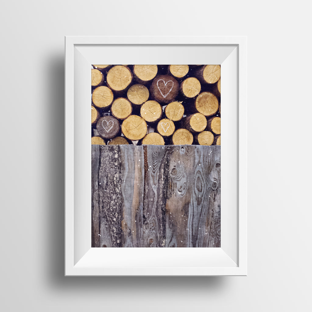 Collected Woodpile + Hearts <br>Rural Canada<br>Limited Release Archival Fine Art Chromogenic Print