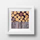 Collected Woodpile + Hearts <br>Rural Canada<br>Archival Fine Art Chromogenic Print