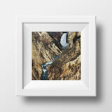 "CLEARANCE 5x5"" Print <br>Yellowstone Falls<br> Matte Finish"