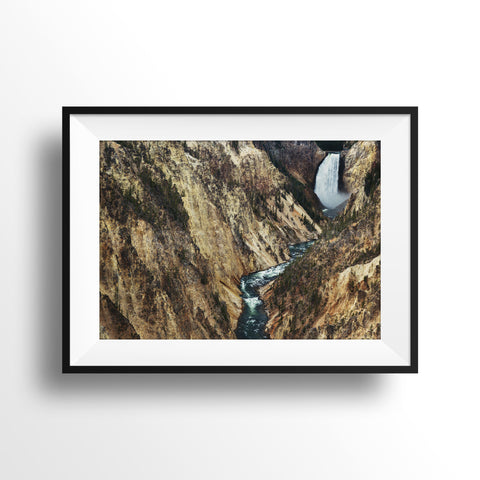 "16x24"" Test Print<br> Grand Canyon of Yellowstone <br> Fine Art Metallic Print"
