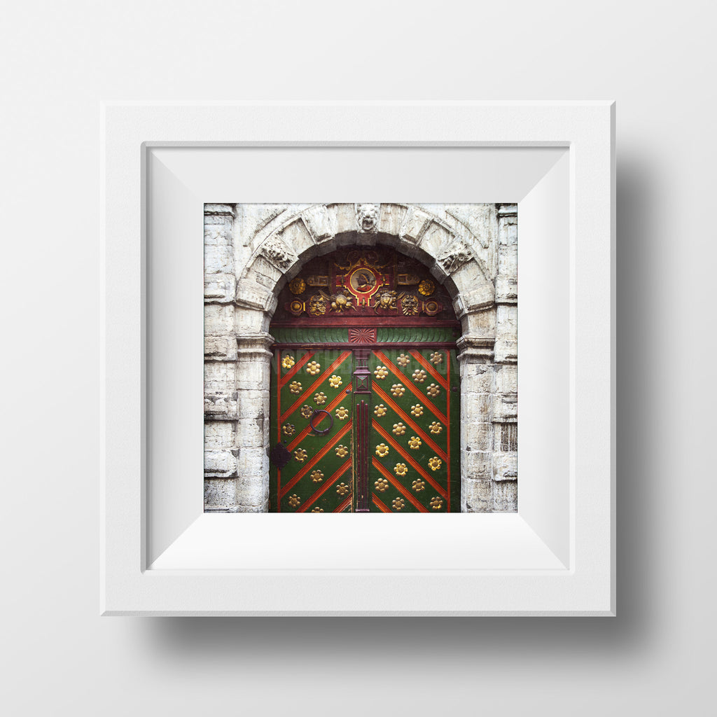 Discontinued Print <br>Historic Door Tallinn Europe<br> Various Finishes + Sizes