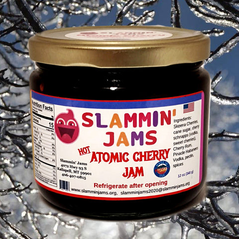Slammin' Jams Atomic Cherry Jam 12 oz