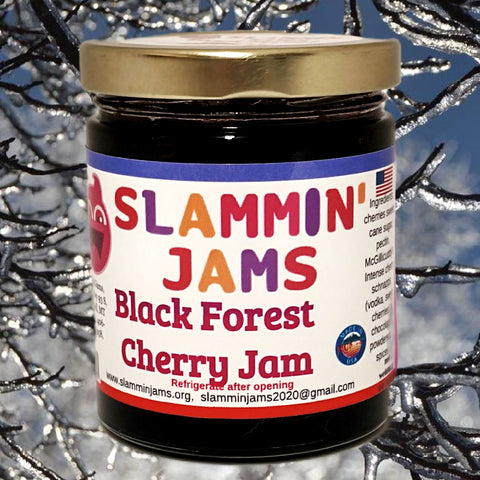 Slammin' Jams Black Forest Cherry Jam 6 oz