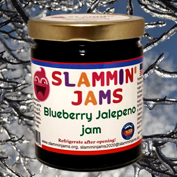 Slammin' James Blueberry Jalepeno Jam 6 oz