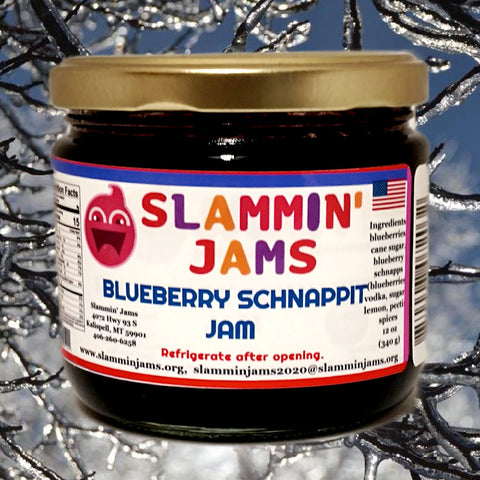 Slammin' James Blueberry Schnappit Jam 12 oz