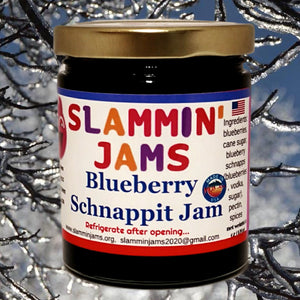 Slammin' James Blueberry Schnappit Jam 6oz