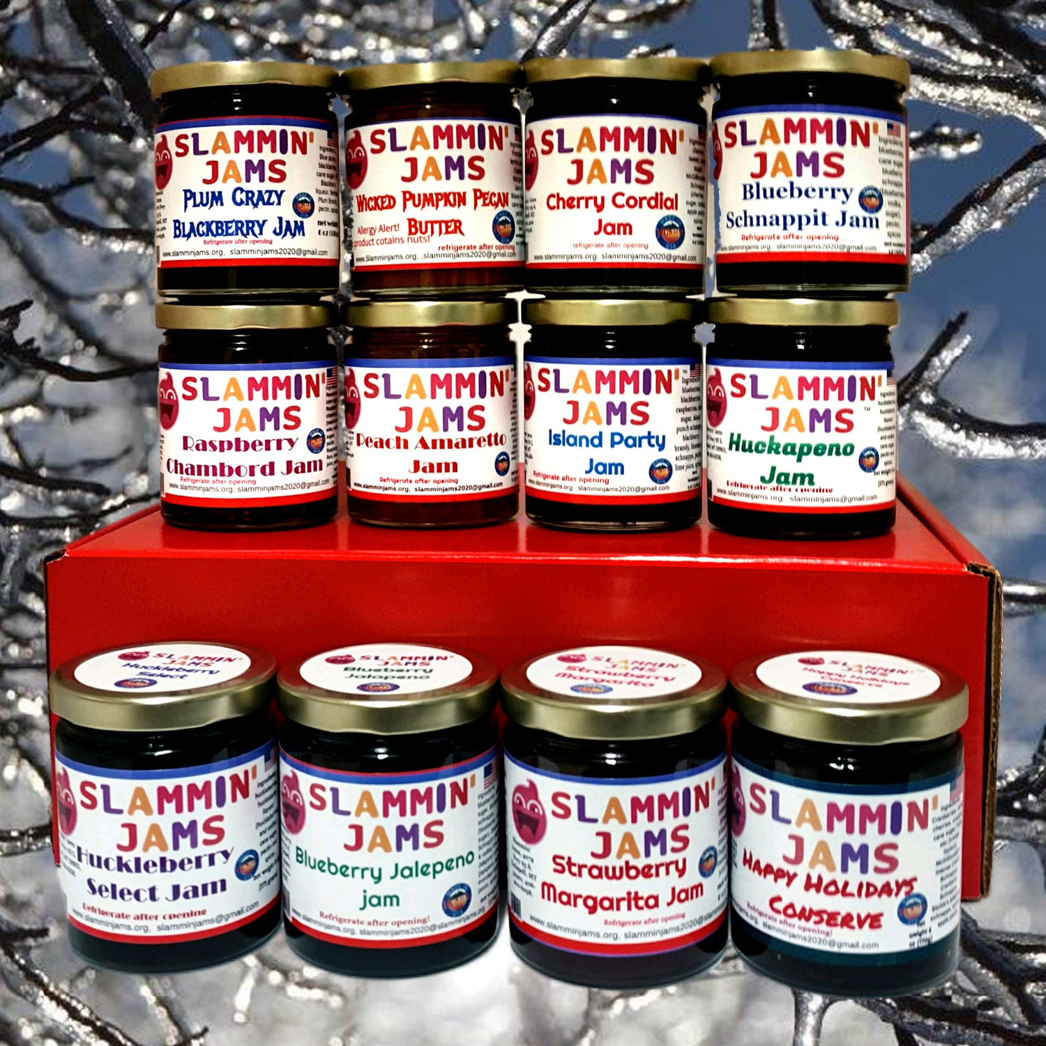 Gift Box of 12 Premium Jams from Slammin' Jams
