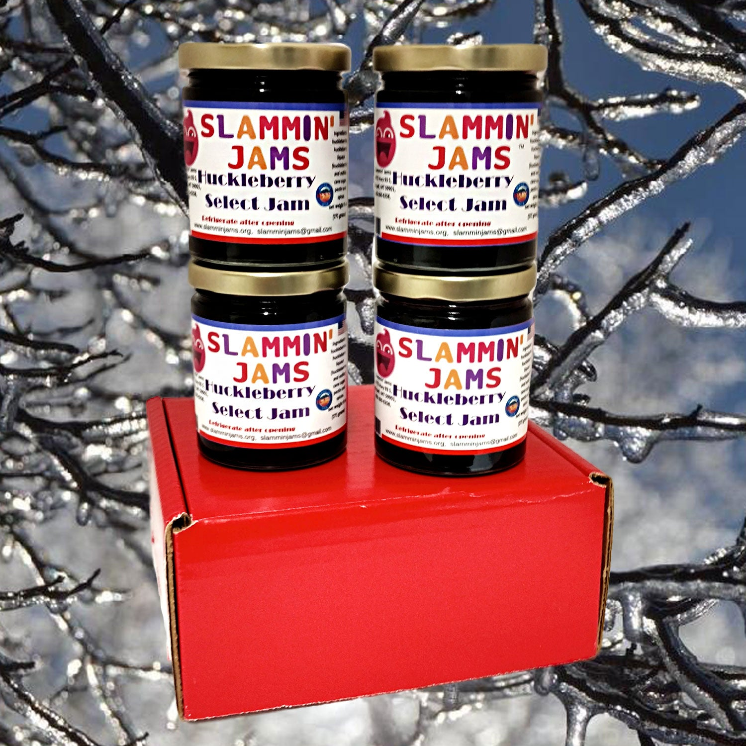 Gift Box of 4 Huckleberry Select Slammin' Jams