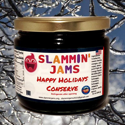 Slammin' Jams Happy Holidays Conserve  12 oz