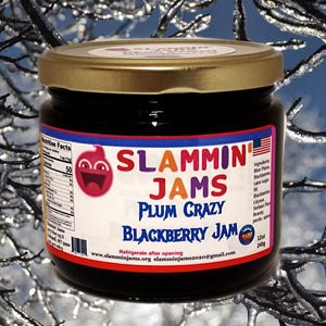 Slammin' Jams Plum Crazy Blackberry Jam 12 oz