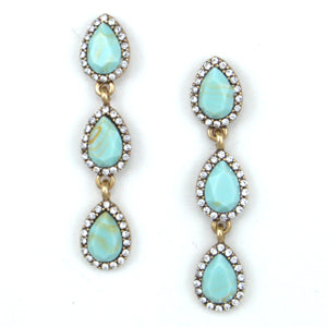 Aqua Glam Earrings