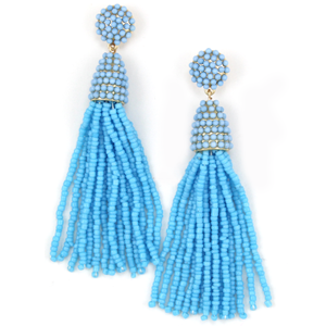 Shimmy Fringe - Blue
