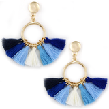 Fan-tastic Tassels - Mix Blue